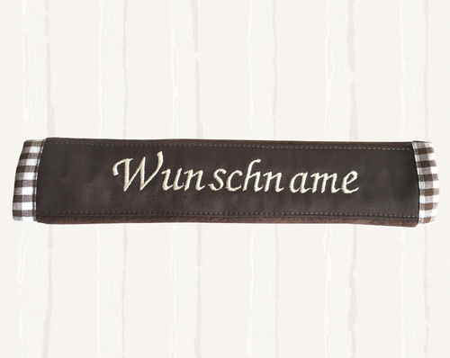 "Noseband with ""desired name"" brown"